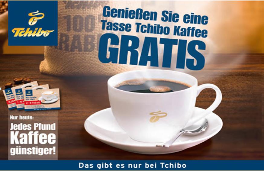 Tchibo Event-Erlebnispromotion mit Glücksrad und Kaffee-Auschank